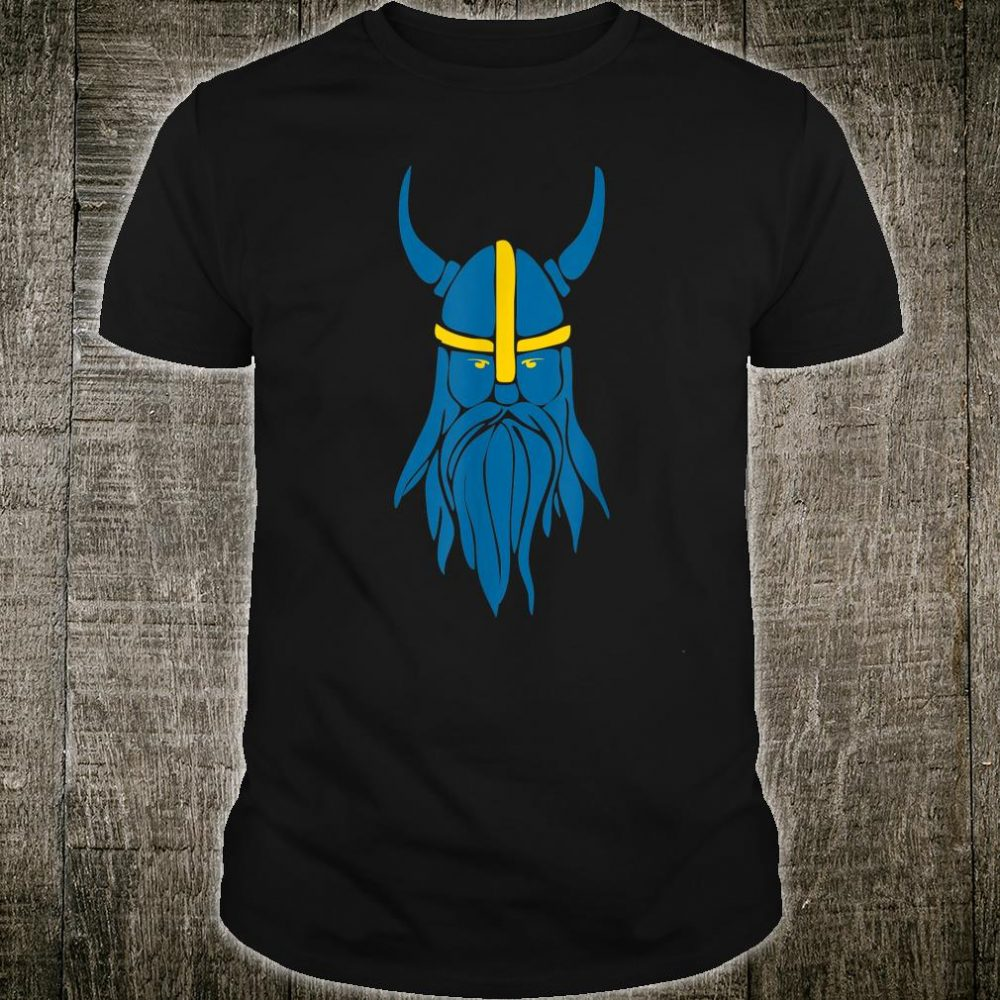Swedish Sweden Viking Helmet With Horns Shirt