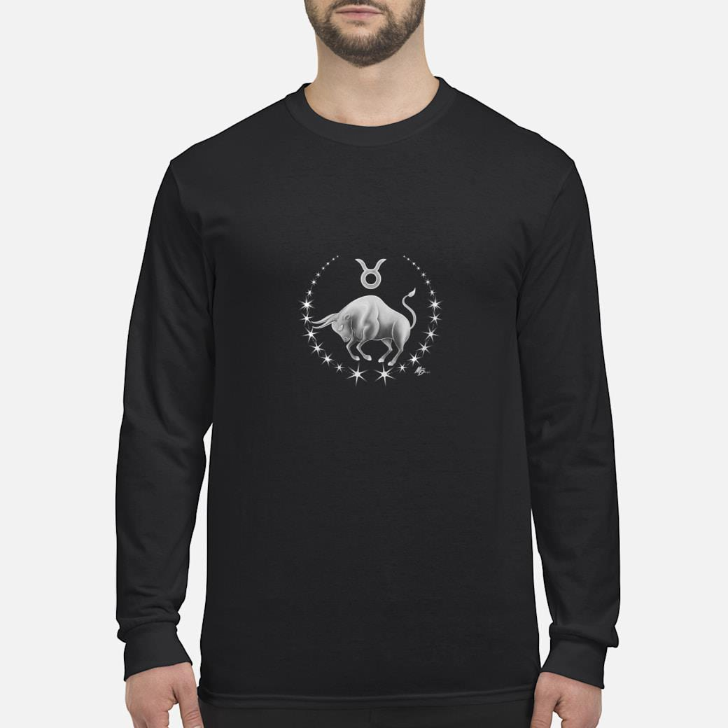 Taurus zodiac with astrology symbol by Mortal Designs Shirt long sleeved