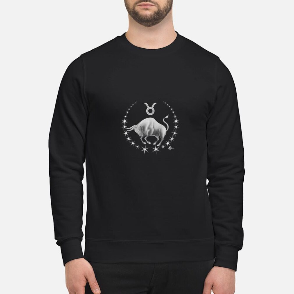 Taurus zodiac with astrology symbol by Mortal Designs Shirt sweater