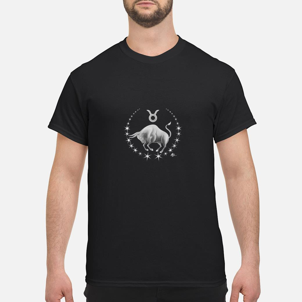 Taurus zodiac with astrology symbol by Mortal Designs Shirt