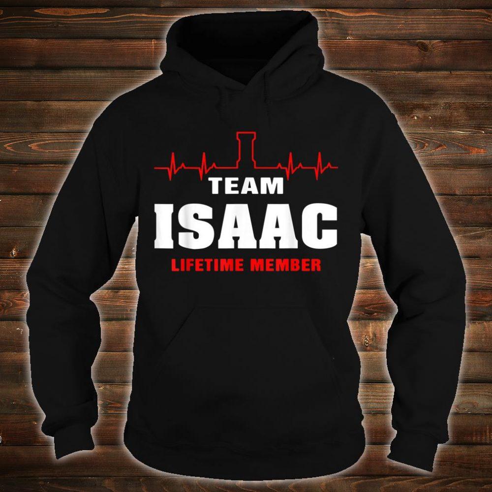 Team Isaac lifetime member shirt surname Isaac name Shirt hoodie