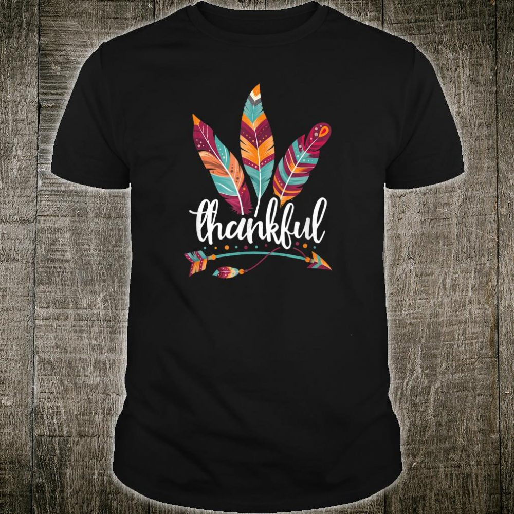 Thankful Grateful Blessed Thanksgiving Day Shirt
