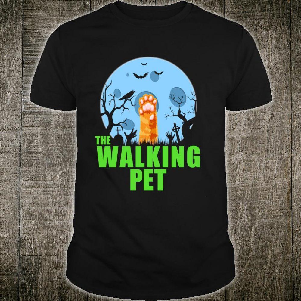The Walking Pet Cat Zombie Cat Paw Halloween Costume Shirt
