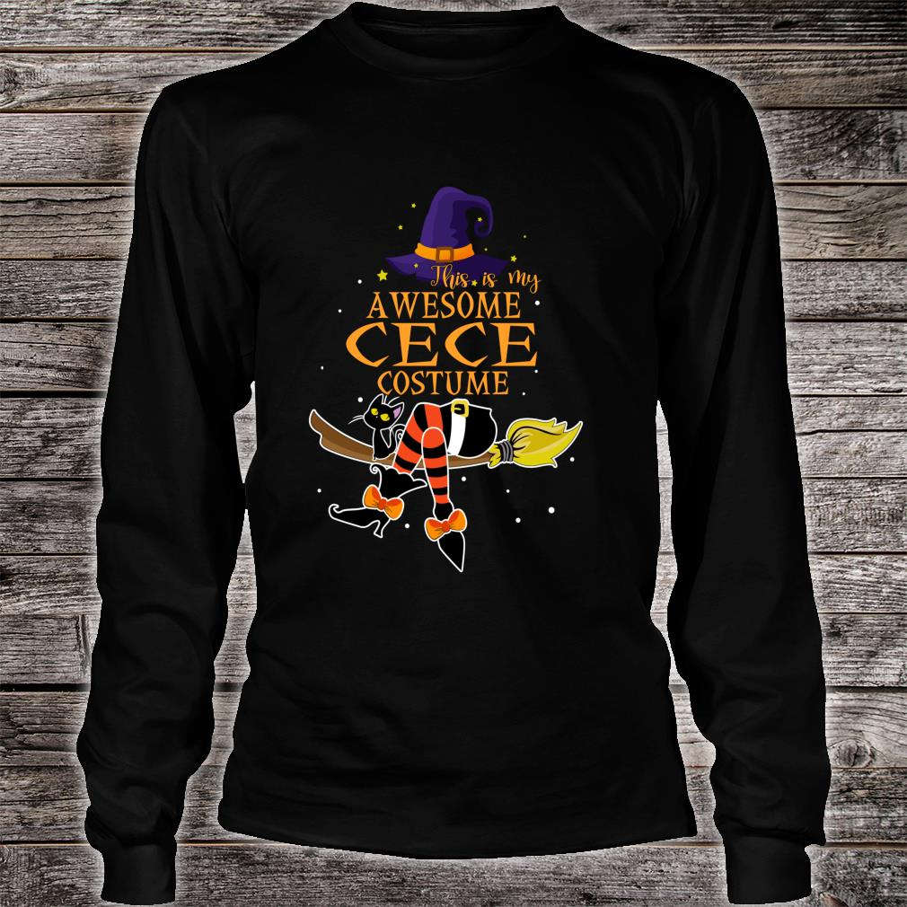 This Is My Awesome Cece Costume Halloween Shirt long sleeved