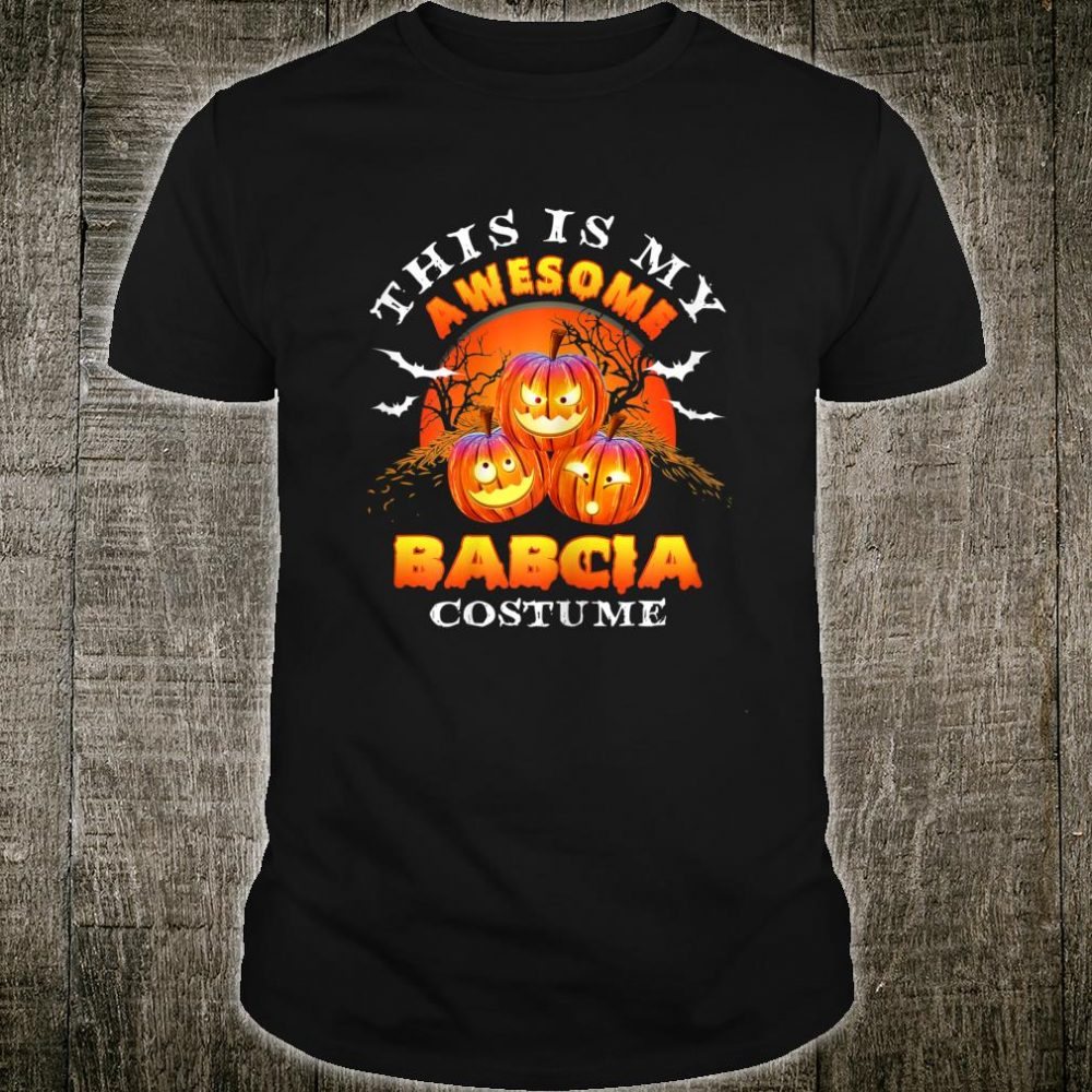 This Is My Awesome Grandma Babcia Costume Halloween Shirt