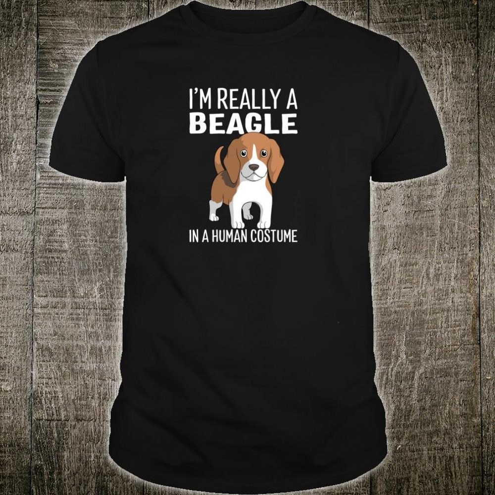 This Is My Human Costume I'm Really A Beagle Dog Halloween Shirt