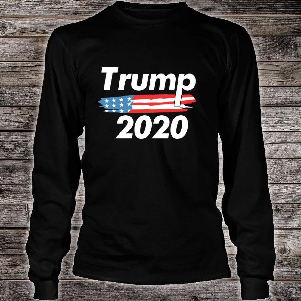 USA Flag President Donald Trump ReElection 2020 Vote Shirt long sleeved