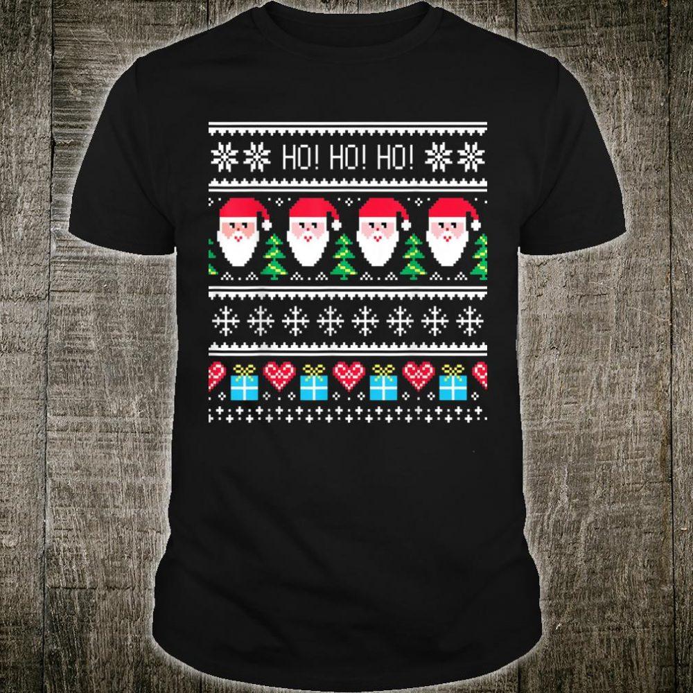 Ugly Christmas Santa Ho Ho Ho Shirt
