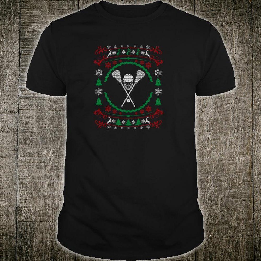 Ugly Christmas Style Lacrosse Xmas Shirt