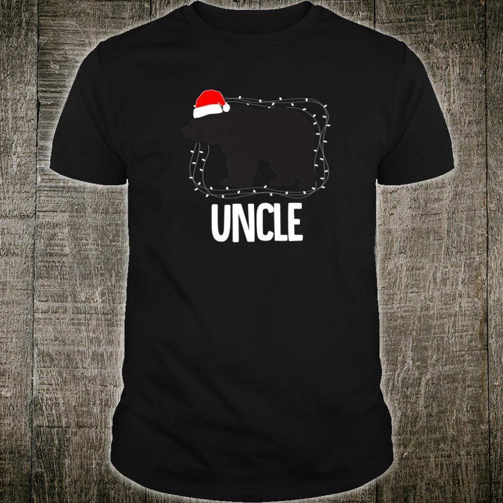 Uncle Santa Hat Christmas Bear Matching Family Shirt