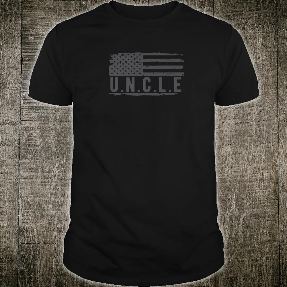 Uncle with American Flag Distressed Design Cool Ideas Shirt