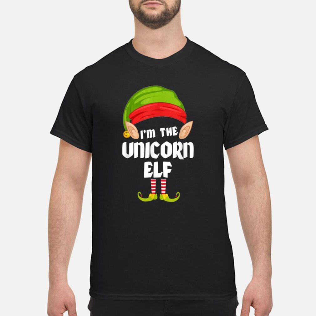 Unicorn Elf Matching Family Group PJ Christmas Shirt