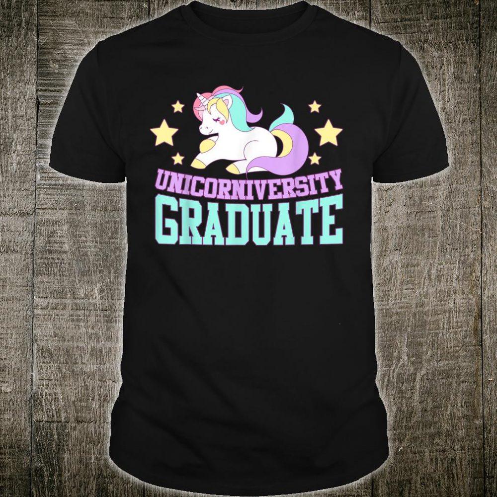 Unicorniversity Graduate Magical Unicorn Cool Humor Pun Shirt