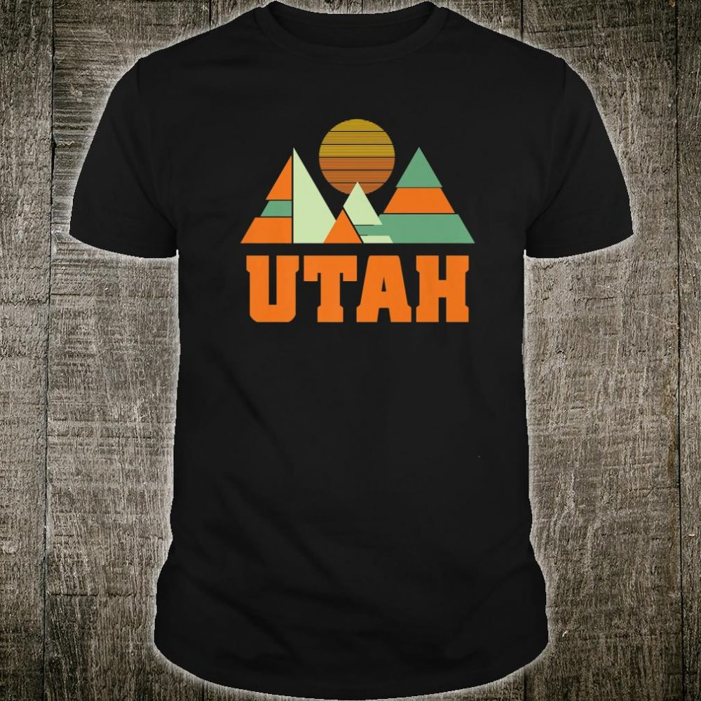 Utah Vintage Minimal Geometric Mountains Souvenir Shirt