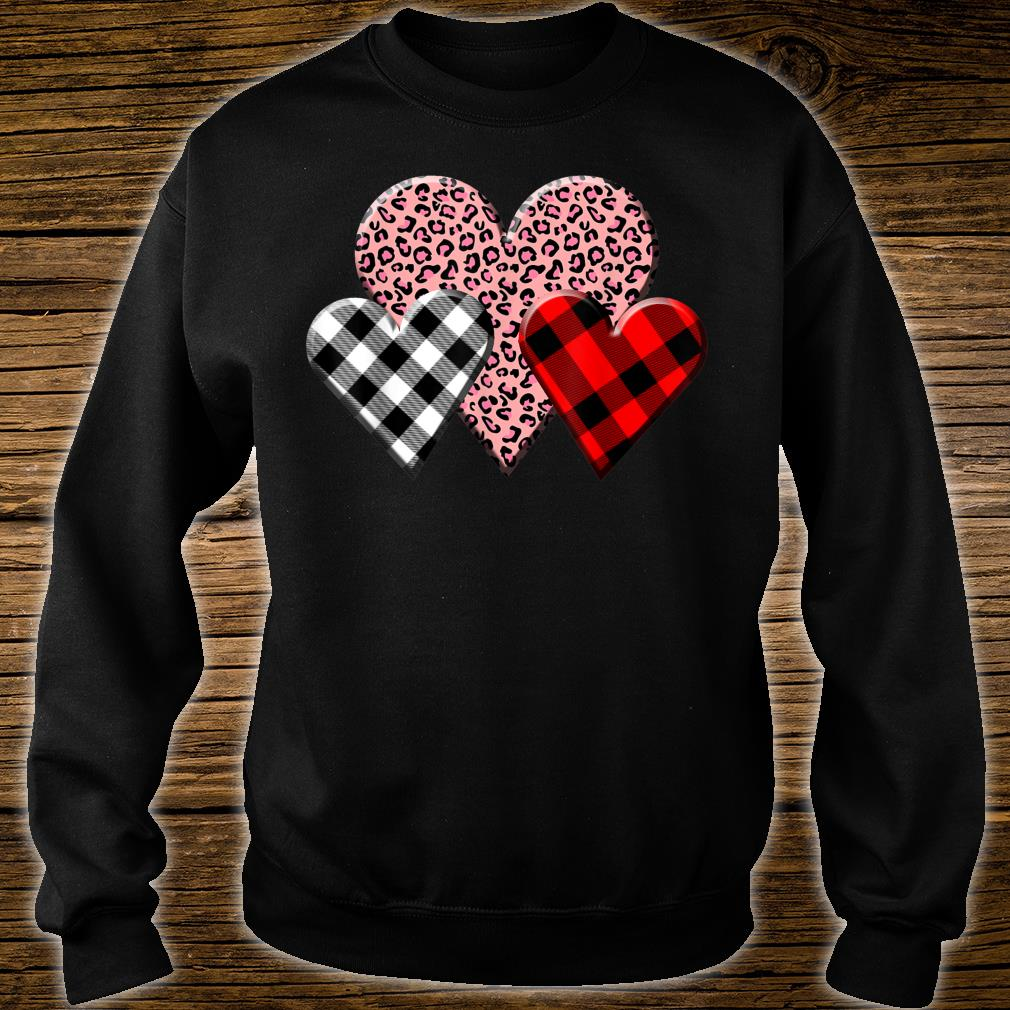 NEW Pink Buffalo Plaid Heart St Valentines Day Cute T-shirts Sweaters S-3XL