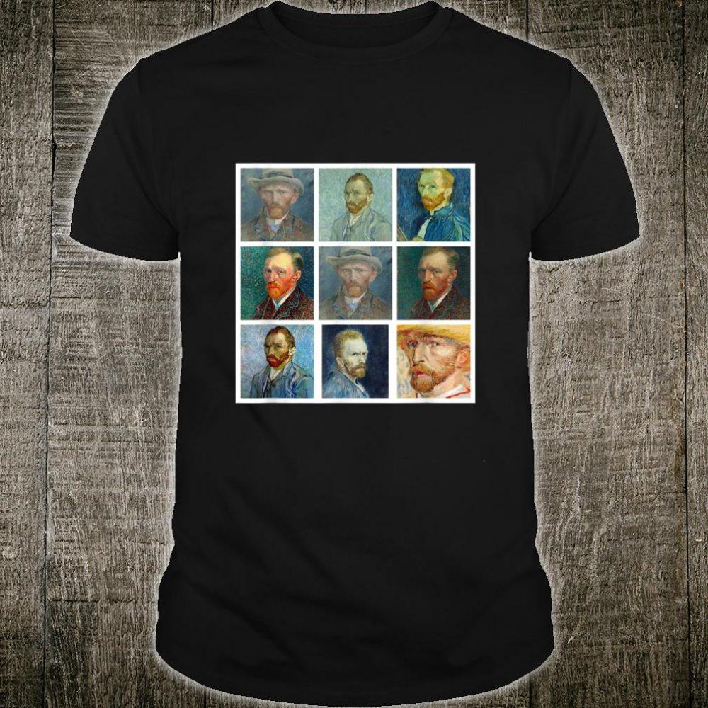 Van Gogh Self Montage Vintage Artwork Retro Shirt
