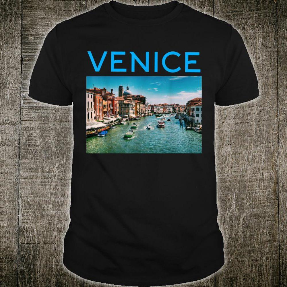 Venice Italy Grand Canal Black Navy Dark Heather Shirt