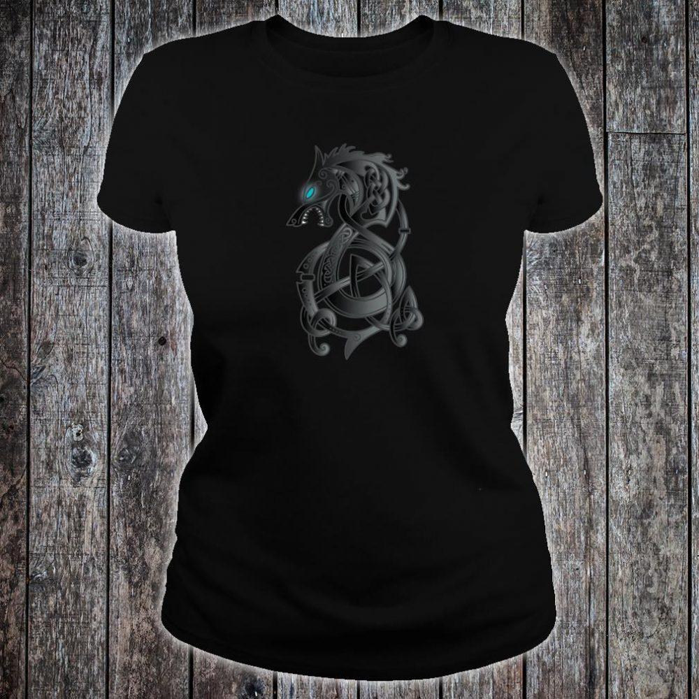 Viking Dragon Norse Mythology Valhalla Nordic Thor Shirt ladies tee