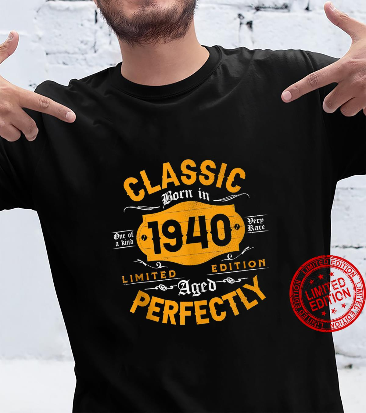 Vintage 1940 Classic 81st Birthday For 81 Years Old Shirt