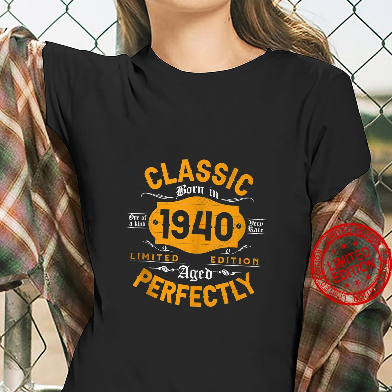 Vintage 1940 Classic 81st Birthday For 81 Years Old Shirt ladies tee