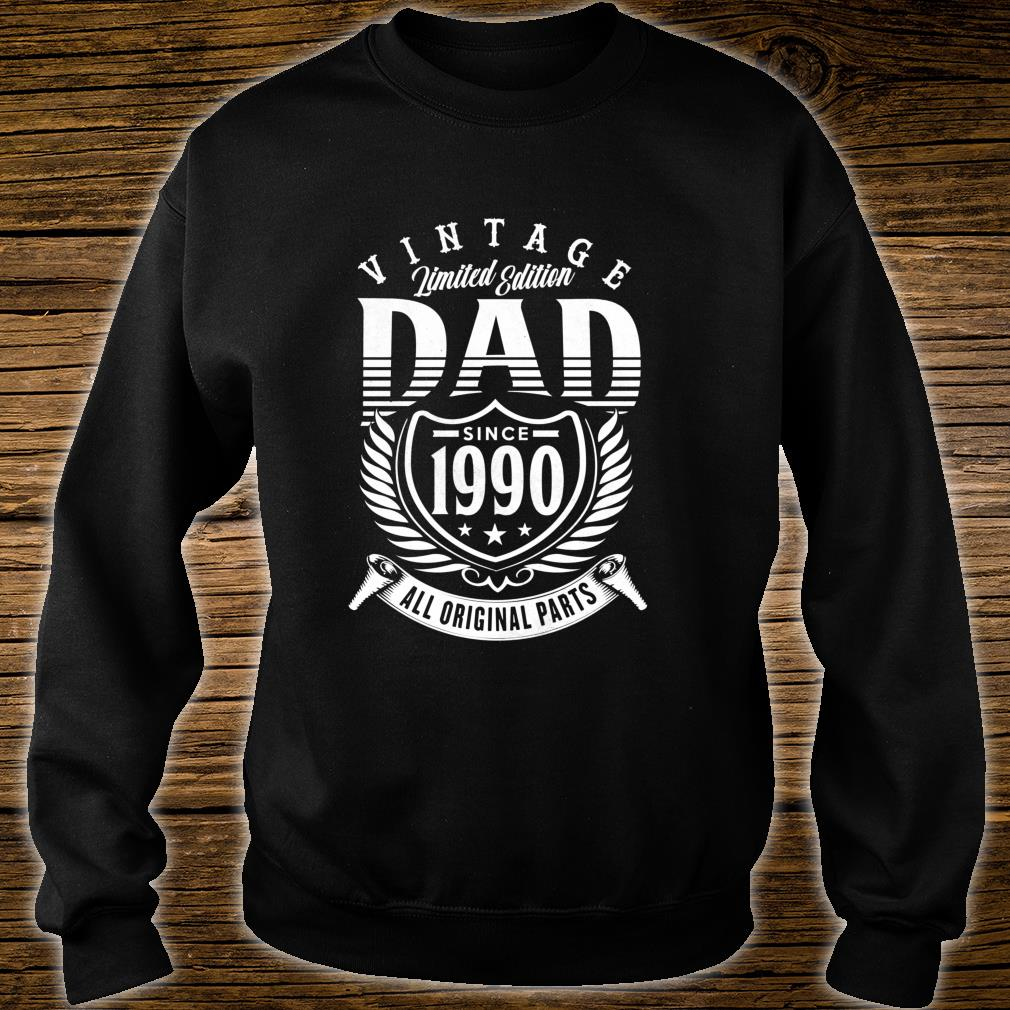 Vintage 29th Birthday Dad Gift Since 1990 Dad Shirt sweater