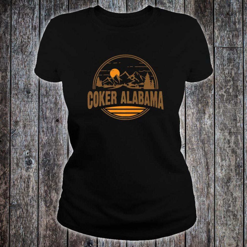 Vintage Coker, Alabama Mountain Hiking Souvenir Print Shirt ladies tee