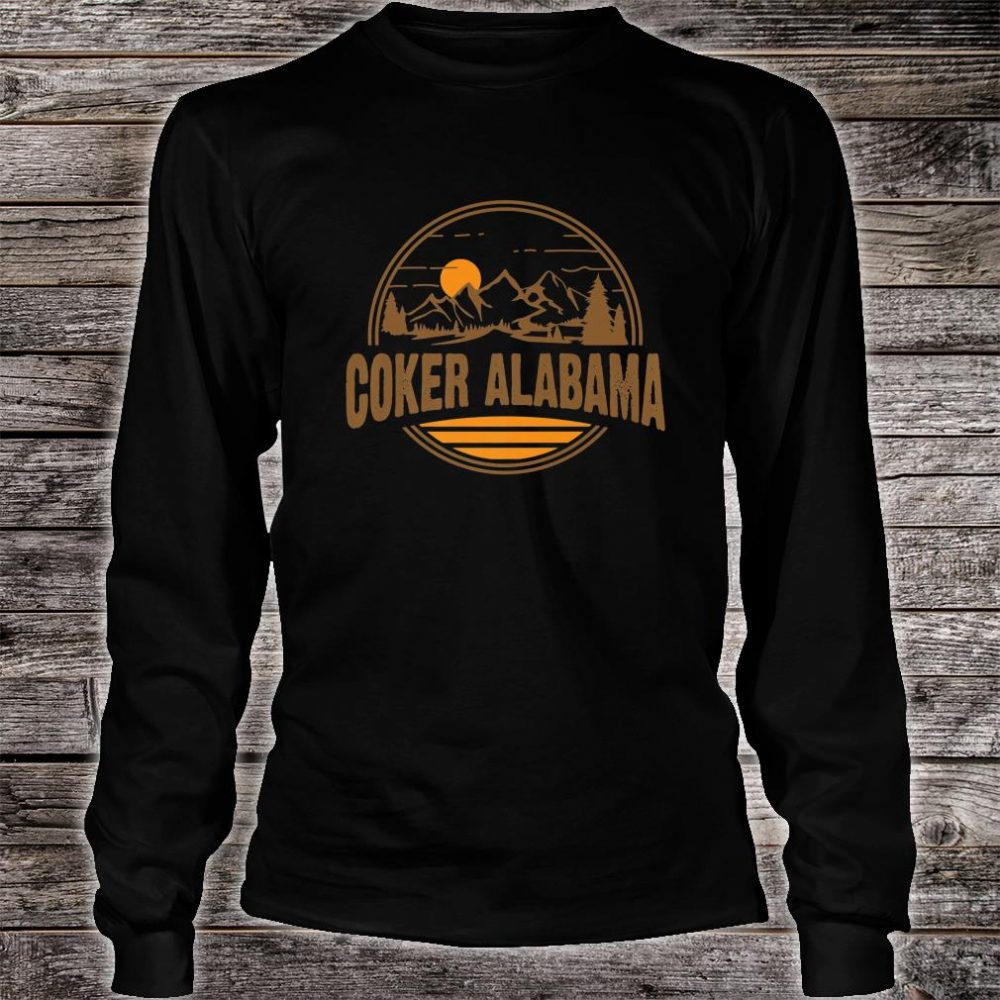 Vintage Coker, Alabama Mountain Hiking Souvenir Print Shirt long sleeved