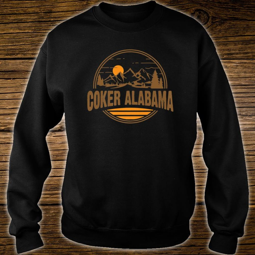 Vintage Coker, Alabama Mountain Hiking Souvenir Print Shirt sweater