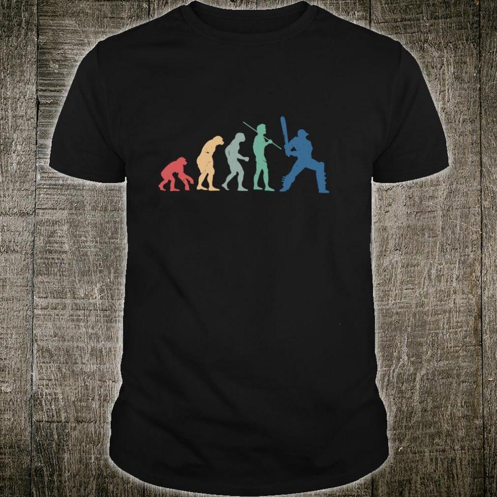 Vintage Cricket Human Evolution Birthday Christmas Shirt