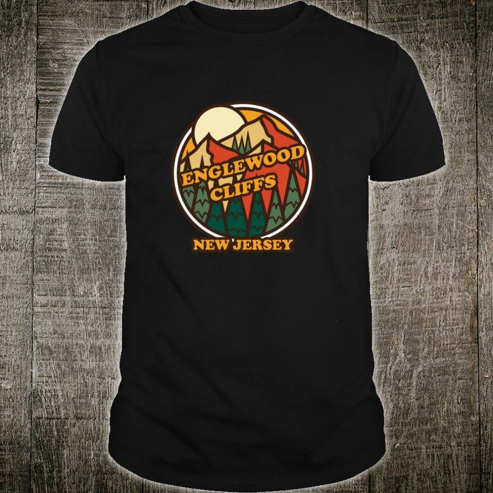 Vintage Englewood Cliffs, New Jersey Mountain Souvenir Print Shirt