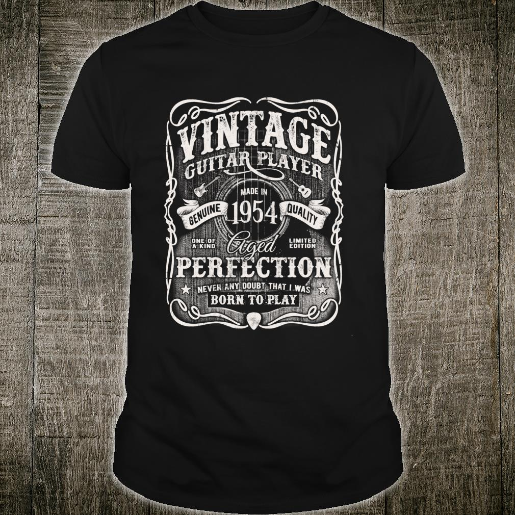 Vintage Guitar Player Made In 1954 Acoustic 66th Birthday m4 Shirt