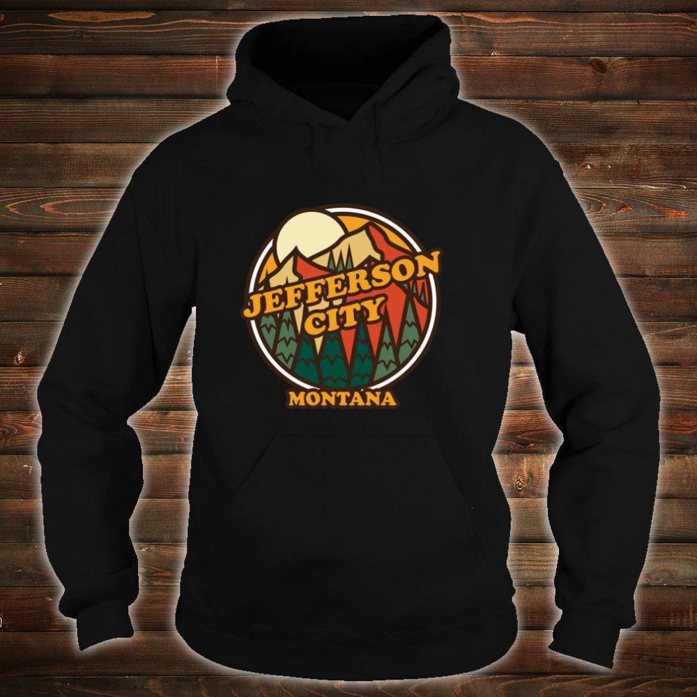Vintage Jefferson City, Montana Mountain Hiking Print Shirt hoodie