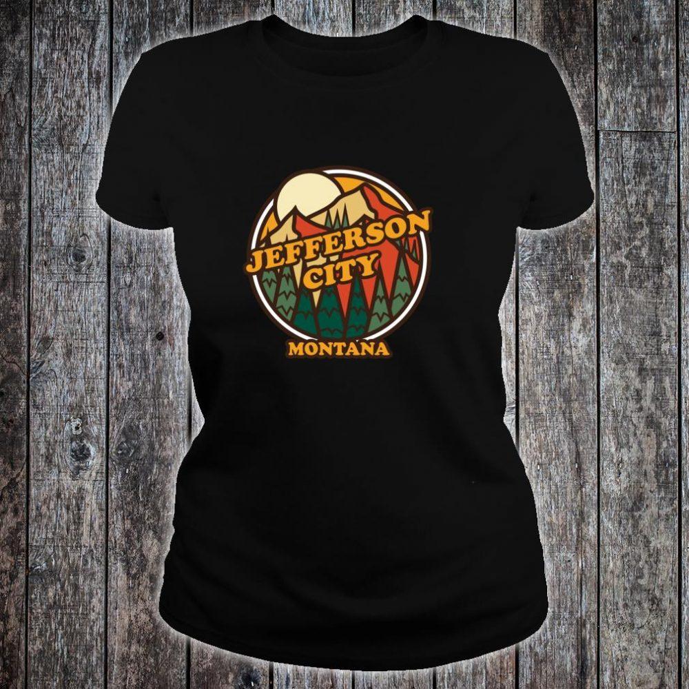 Vintage Jefferson City, Montana Mountain Hiking Print Shirt ladies tee