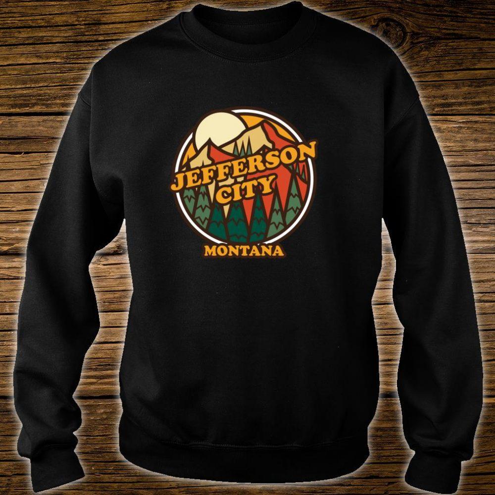 Vintage Jefferson City, Montana Mountain Hiking Print Shirt sweater