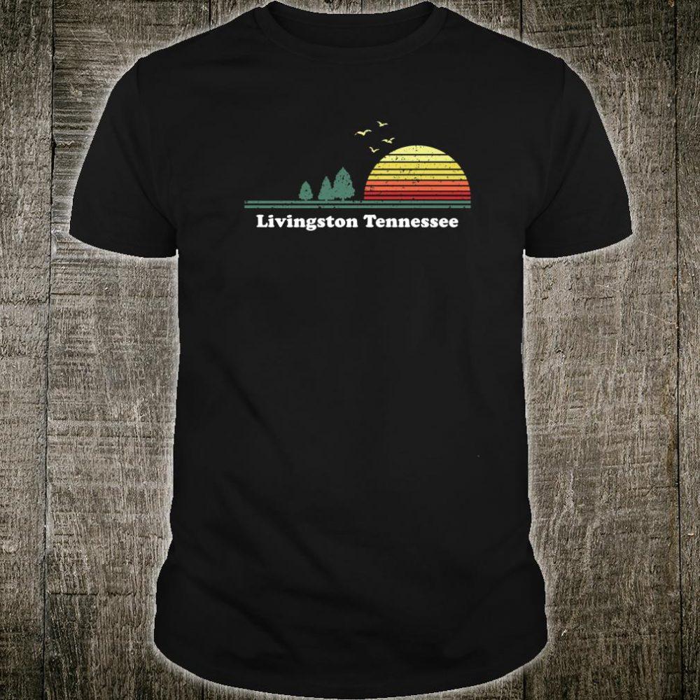 Vintage Livingston, Tennessee Sunset Souvenir Print Shirt