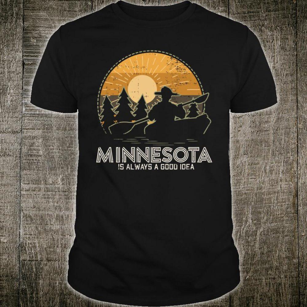 Vintage Minnesota Lake Geschenkidee Shirt