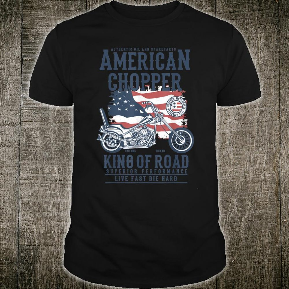 Vintage Softail Motorcycle American King of the Road Biker Shirt