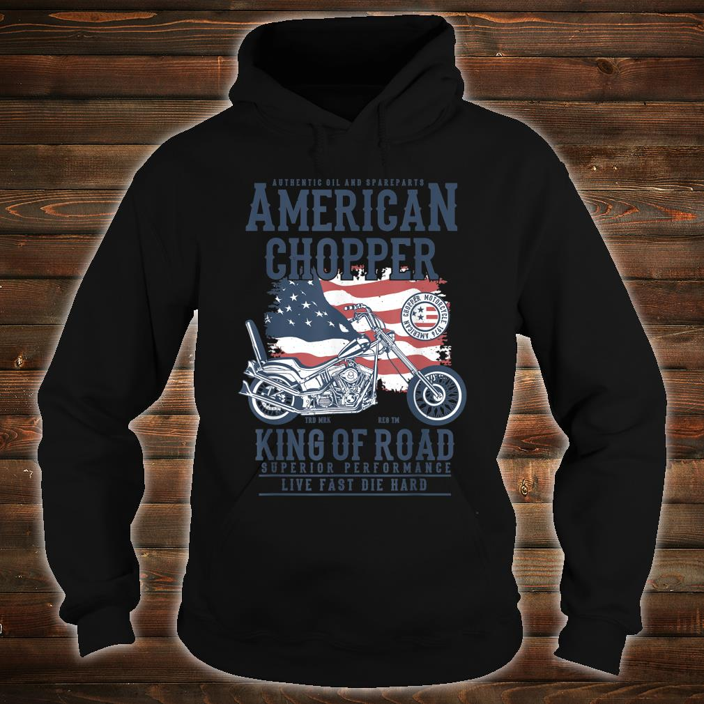 Vintage Softail Motorcycle American King of the Road Biker Shirt hoodie