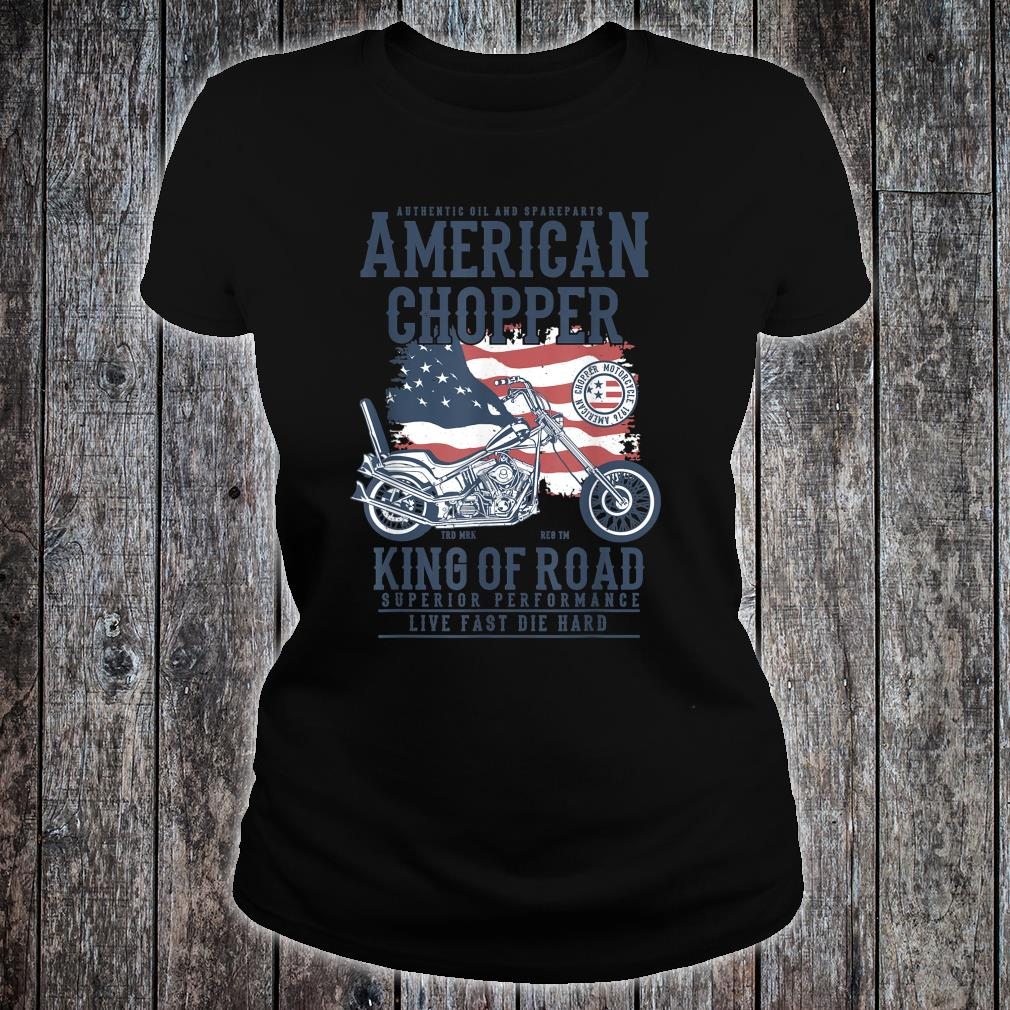 Vintage Softail Motorcycle American King of the Road Biker Shirt ladies tee