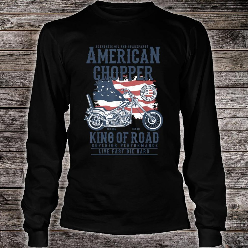 Vintage Softail Motorcycle American King of the Road Biker Shirt long sleeved