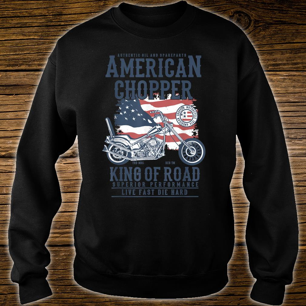 Vintage Softail Motorcycle American King of the Road Biker Shirt sweater
