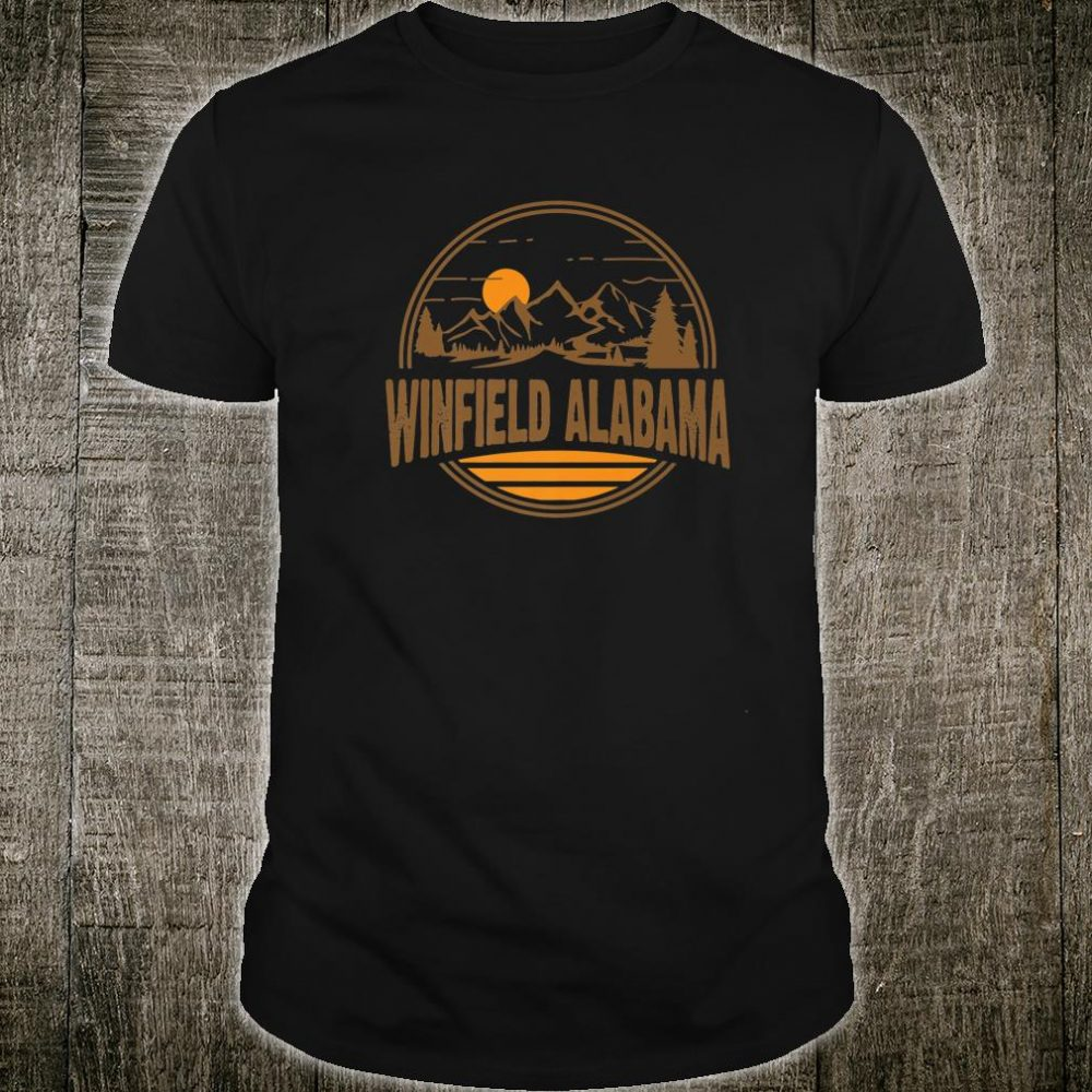 Vintage Winfield, Alabama Mountain Hiking Souvenir Print Shirt