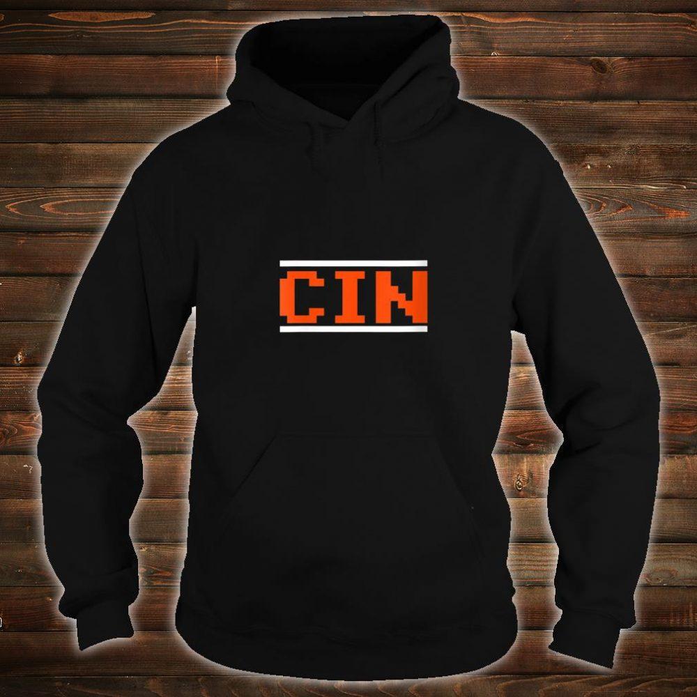 Womens Cincinnati Football 8Bit Font Shirt hoodie