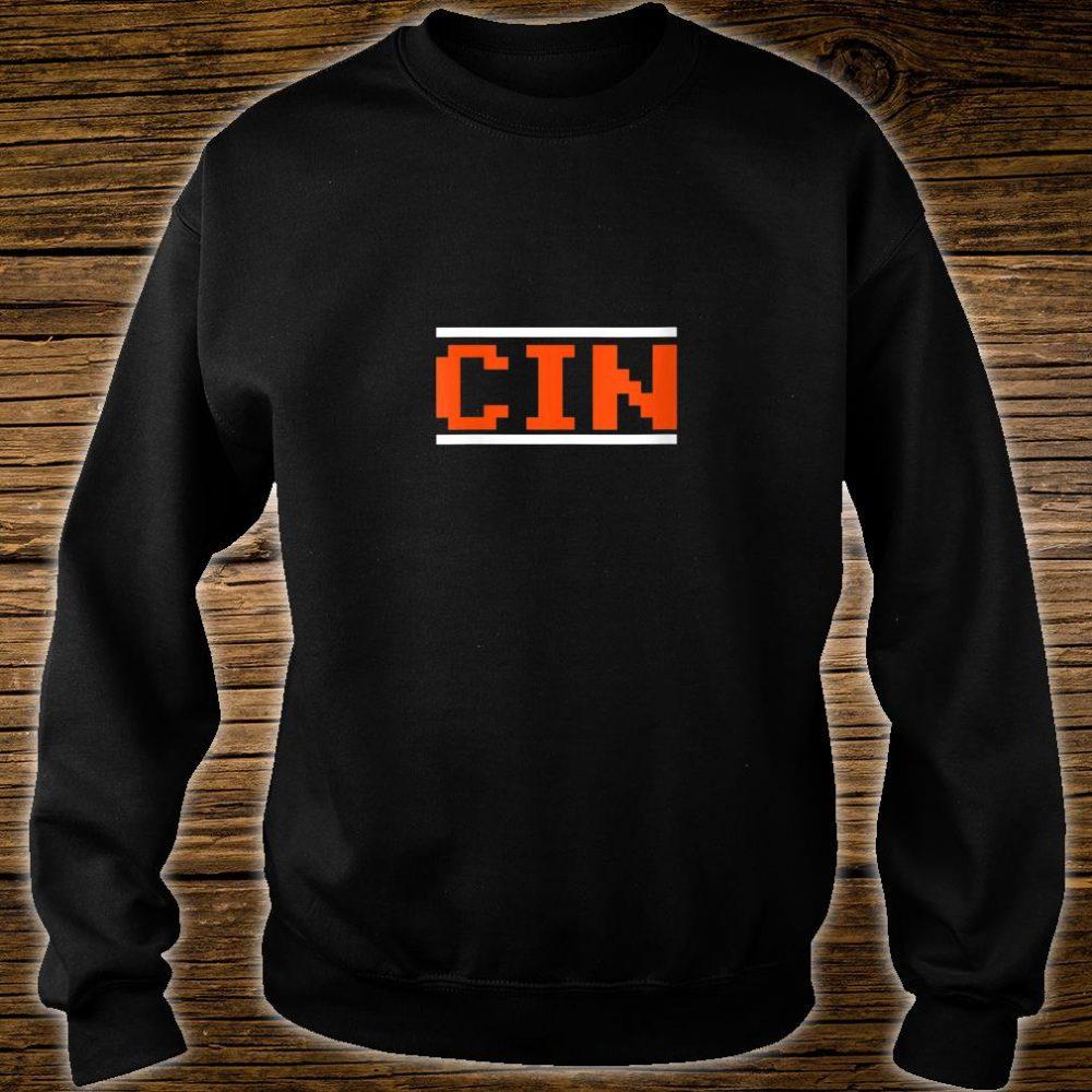 Womens Cincinnati Football 8Bit Font Shirt sweater