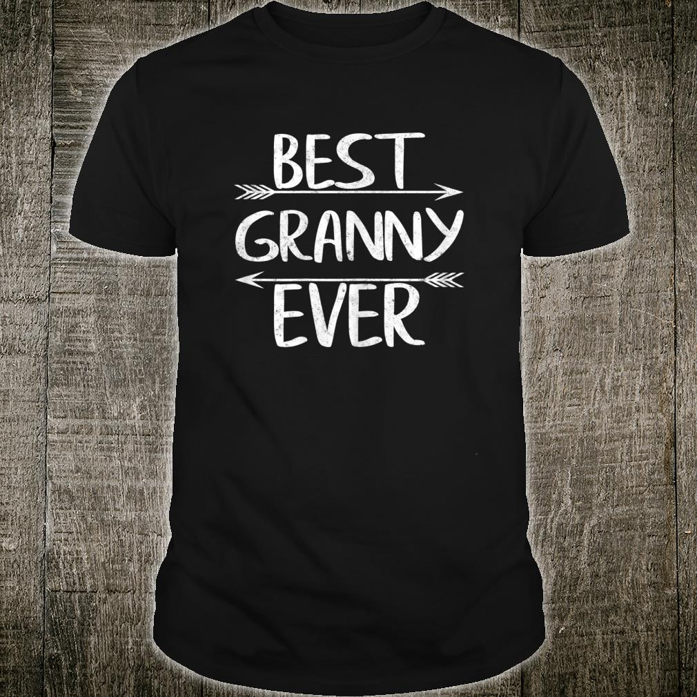 Womens Cute Mother's Day Grandma Best Granny Ever Casual Shirt