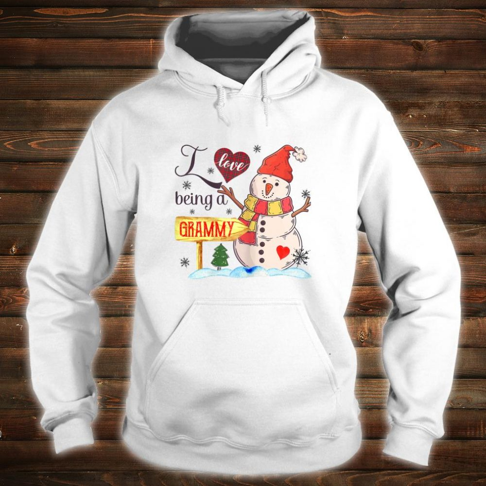 Womens I Love Being Grammy Snowman Family Christmas Shirt hoodie