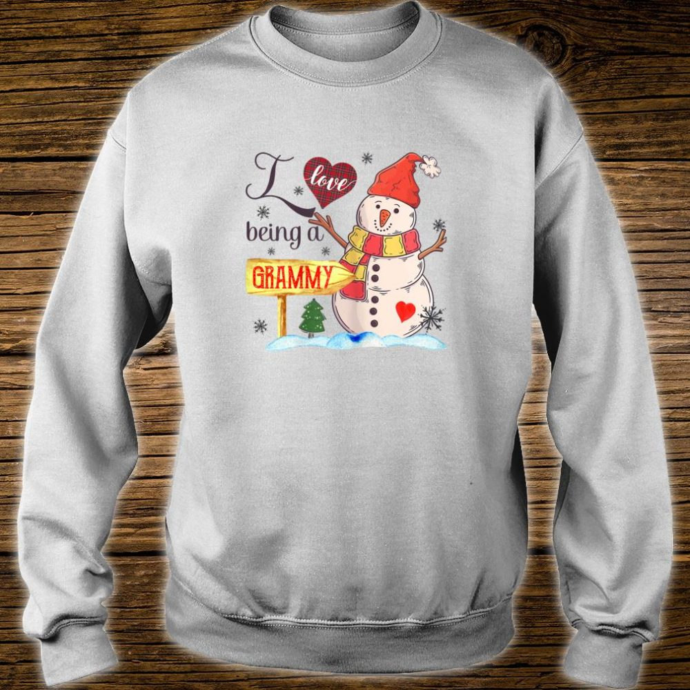 Womens I Love Being Grammy Snowman Family Christmas Shirt sweater