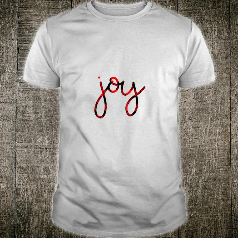 Womens Joy Buffalo Plaid Check Cute Christmas for Her Shirt