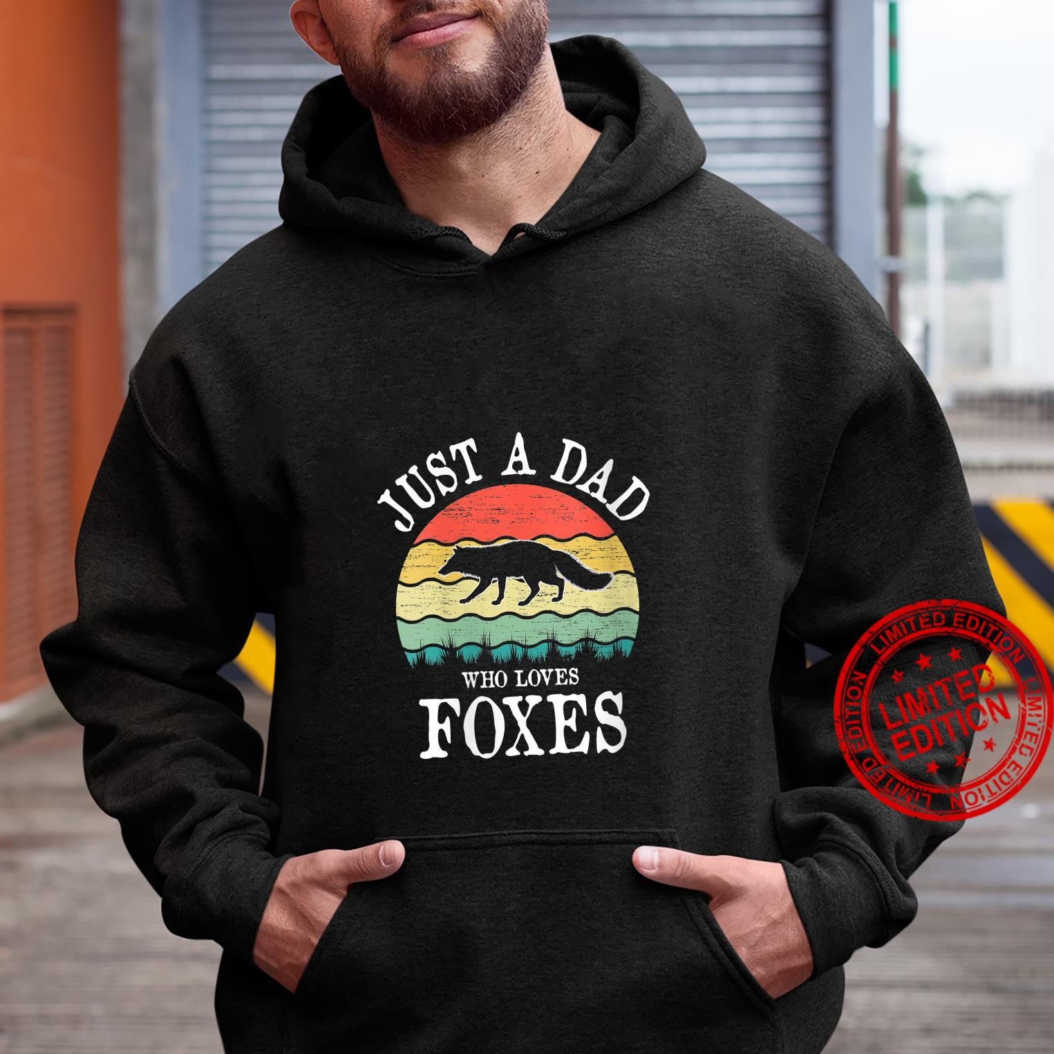 Womens Just A DAD Who Loves Foxes Shirt hoodie