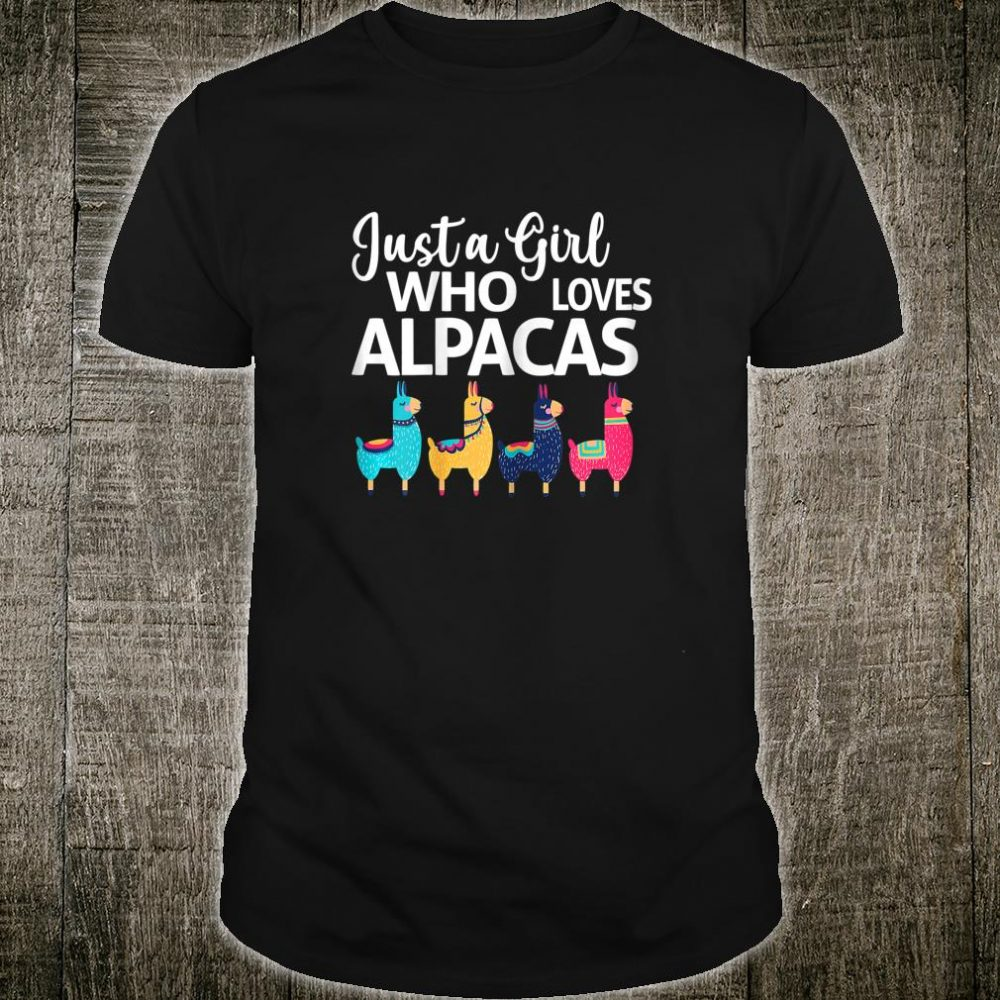 Womens Just A Girl Who Loves Alpacas Farmer Shirt